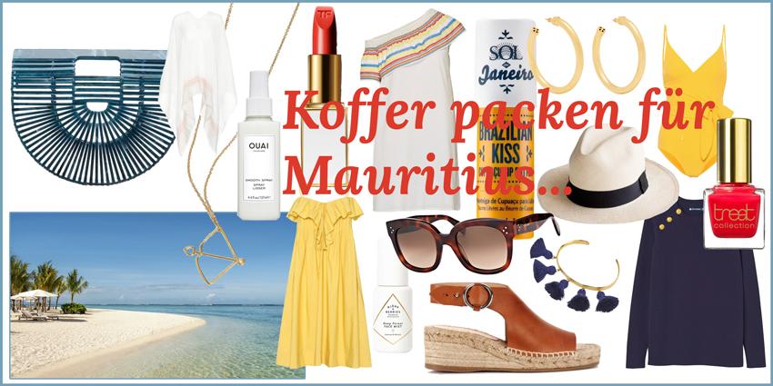 Koffer packen für Mauritius Headerbild