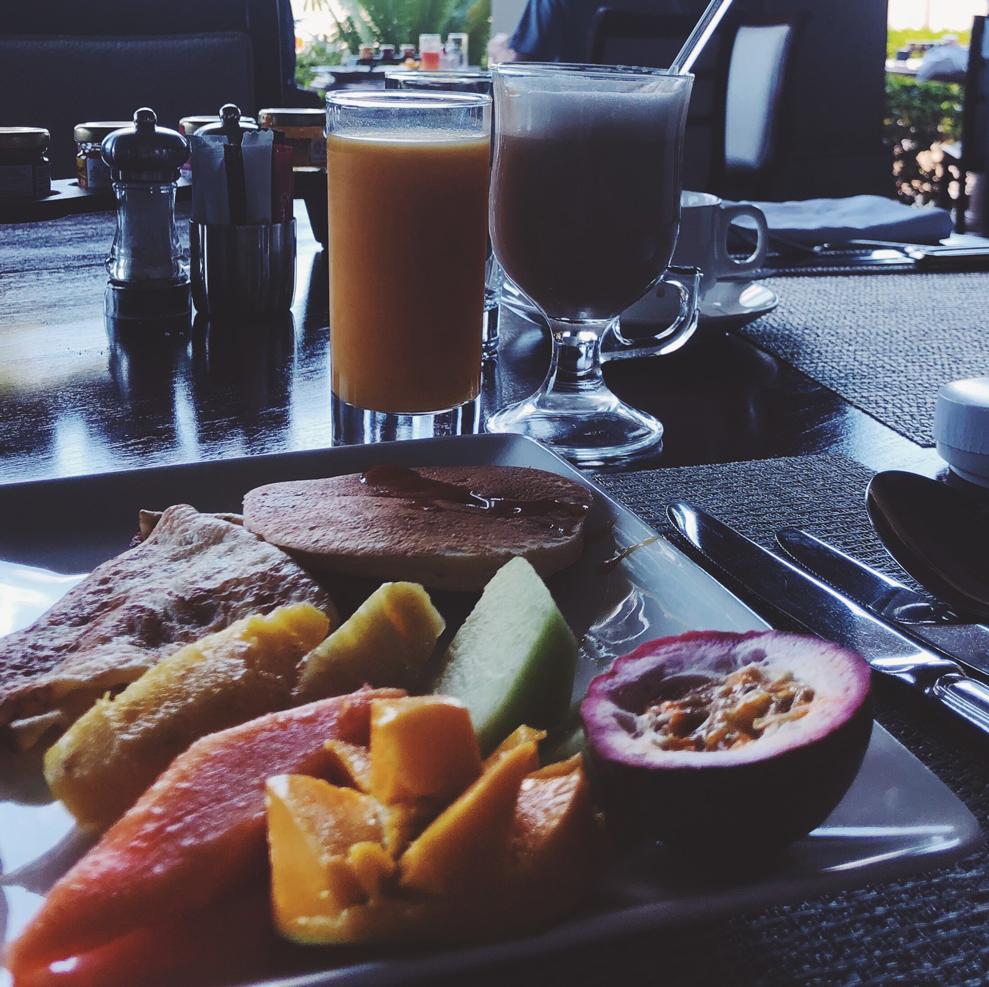Dezember auf...Mauritius St. Regis Frühstück
