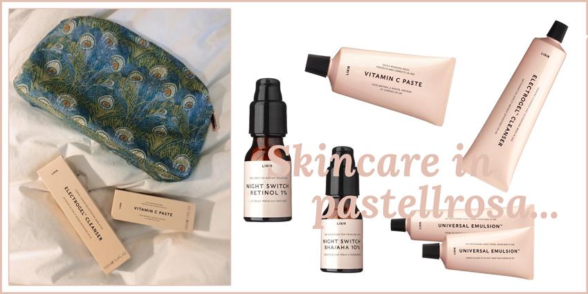 Skincare in pastellrosa Headerbild