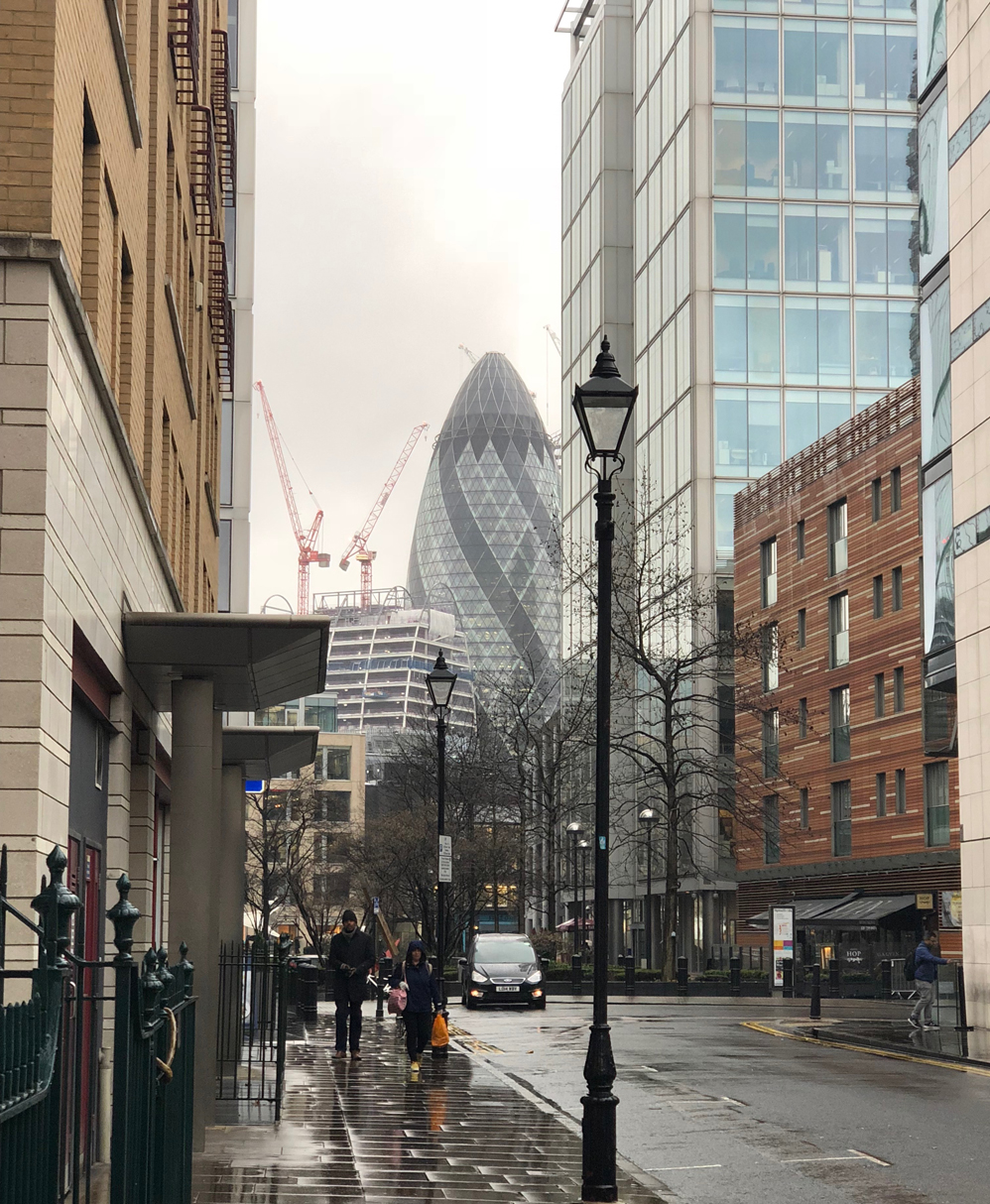 What happend April 2018 The Gherkin
