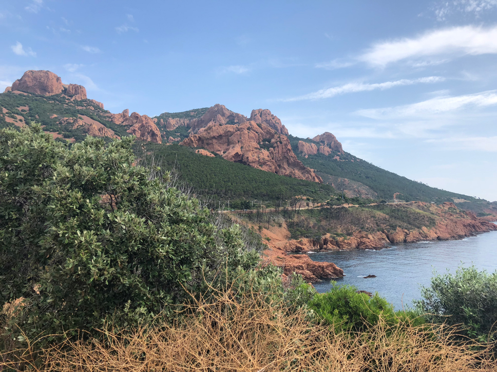 Summer in France Esterel Gebirge