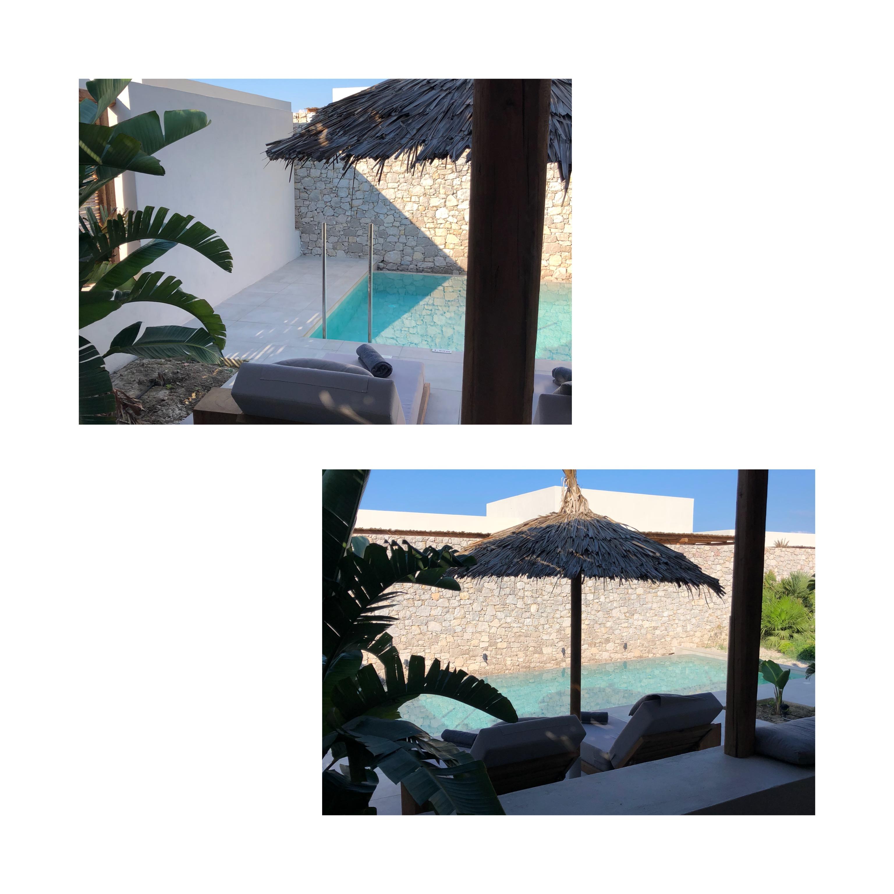 Casa Cook Kos Detaisl Terrasse und Pool