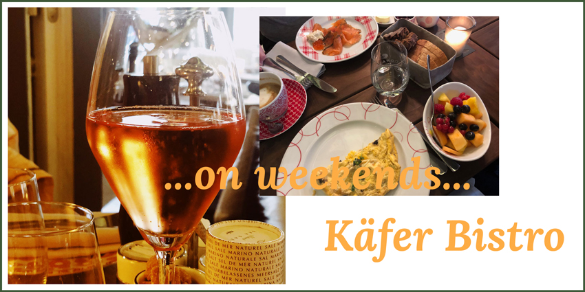 ...on weekends...Käfer Bistro Headerbild