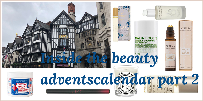 Inside the beauty adventscalendar from Liberty London part 3 Headerbild