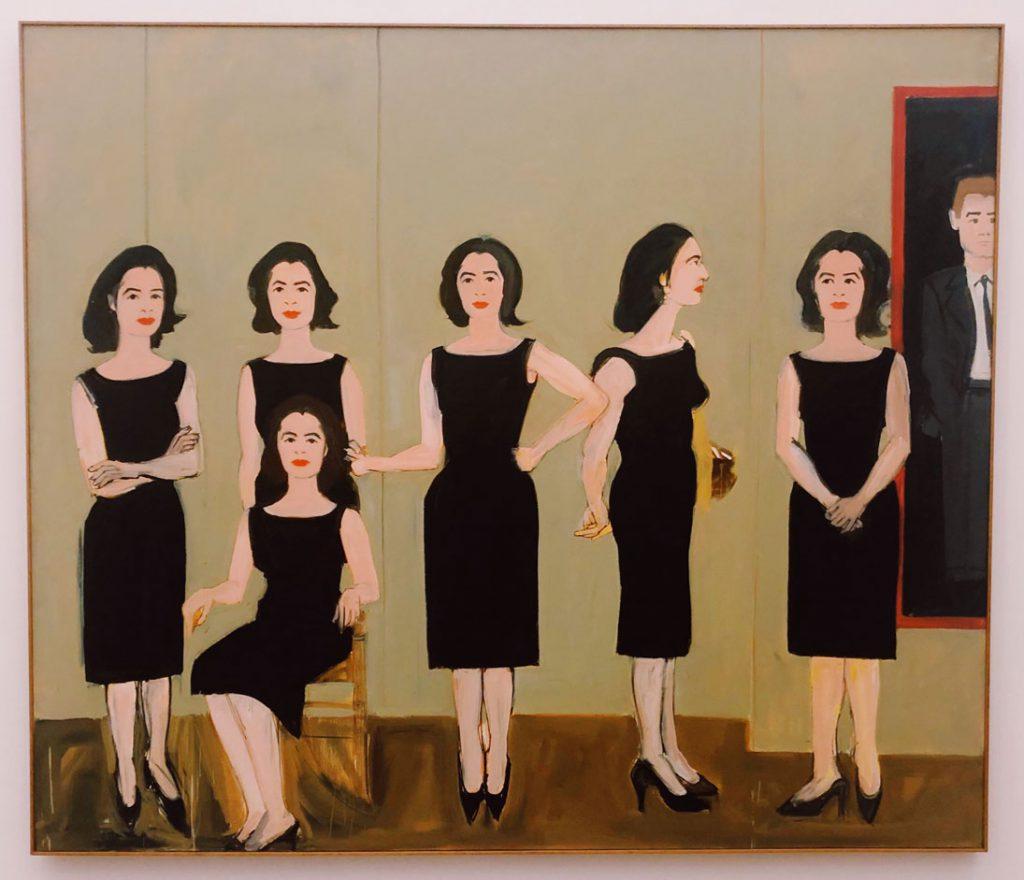 ...on weekends...Alex Katz im Museum Brandhorst Black Dress
